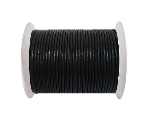 Round Leather Cord SE/R/02-Black - 2mm