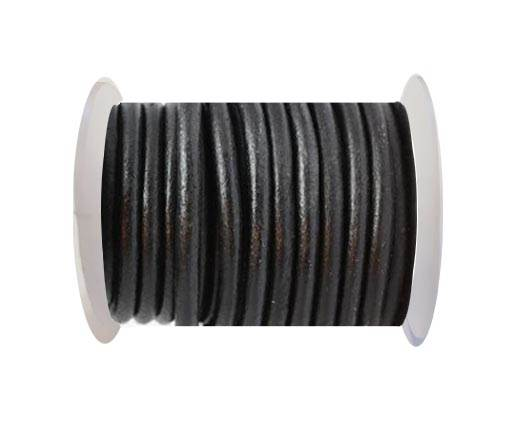 Round leather Cords - 8mm - Black