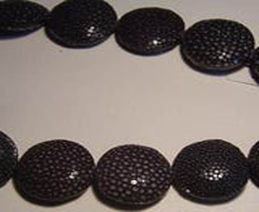 Sting Ray Beads - 25mm-Black-Lenses
