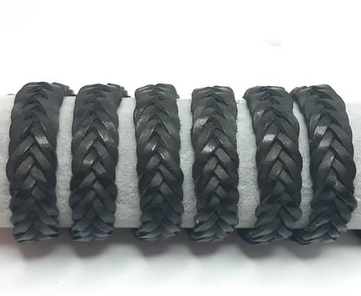 15mm-Flat Braided-Black