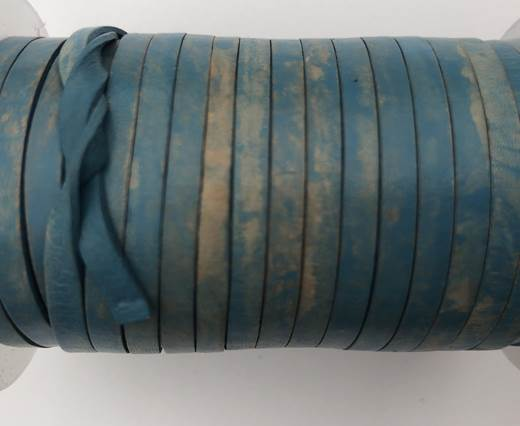 Cowhide Leather Jewelry Cord -3mm-Blue