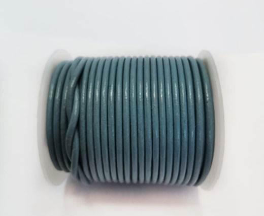 Round Leather Cord - 3mm - BLUISH GREY