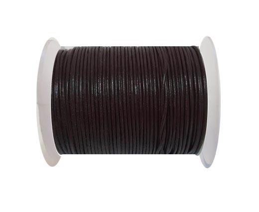 Round Leather Cord -1mm- BORDEOUX