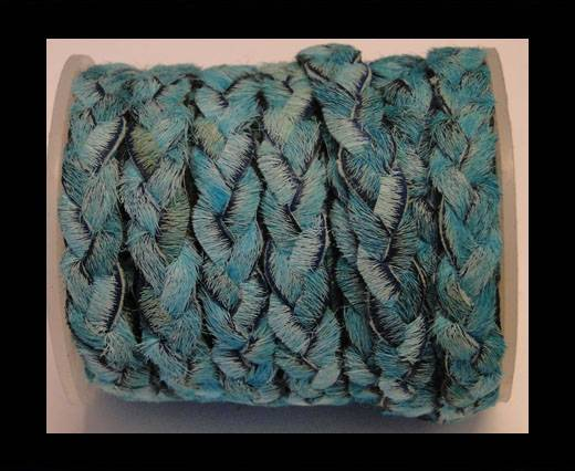 Buy Braided Flat Hair-on Leather-Turquoise at wholesale prices