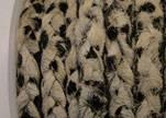Braided Flat Hair-on Leather-Dalmatian
