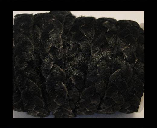 Buy Braided Flat Hair-on Leather-Black at wholesale prices