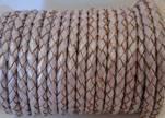 Round Braided Leather Cord SE/M/07-Metallic Lavender - 3mm