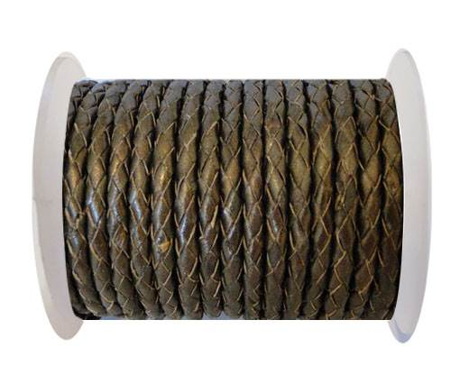 Round Braided Leather Cord SE/M/Taambaa - 4mm