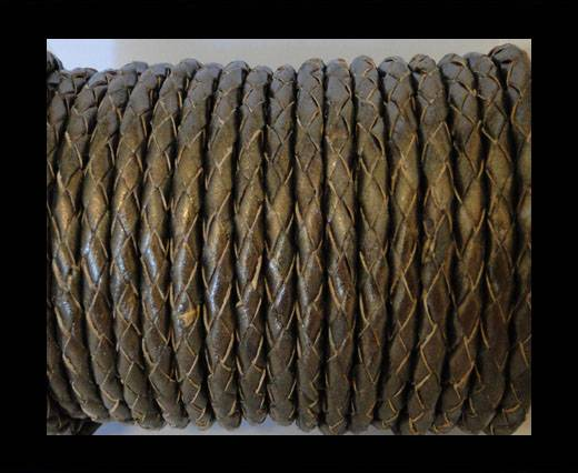 Round Braided Leather Cord SE/M/Taambaa - 6mm