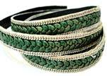 Braided Leather with silver chain-10mm-SE.FPB.05