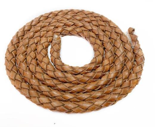 Oval Regaliz braided cords-11*6.3mm-TAN