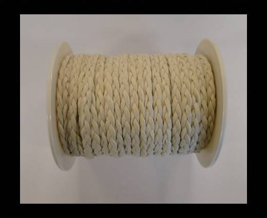 Buy Braided Suede Cords -White-5mm at wholesale prices