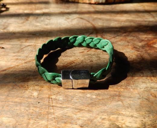 BraidedLeatherBracelet02 - Green