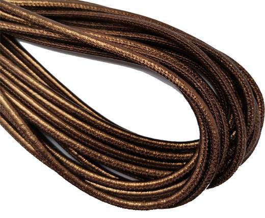 Round Stitched Nappa Leather Cord-4mm-bronze lamina1