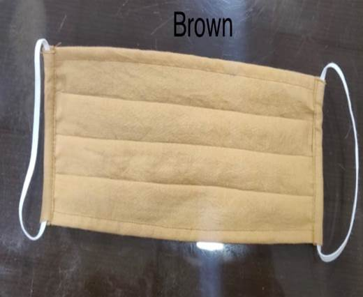 Washable Cotton Mask - Straight - Brown
