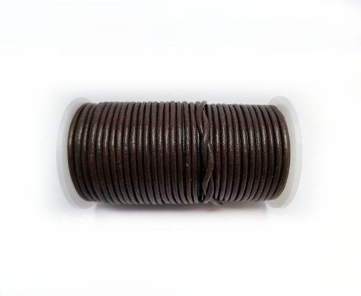 Round leather cord-2mm-BROWN