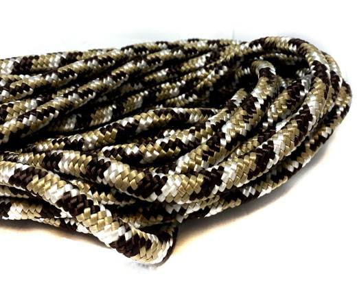 Paracord 8mm - BROWN GOLD WHITE