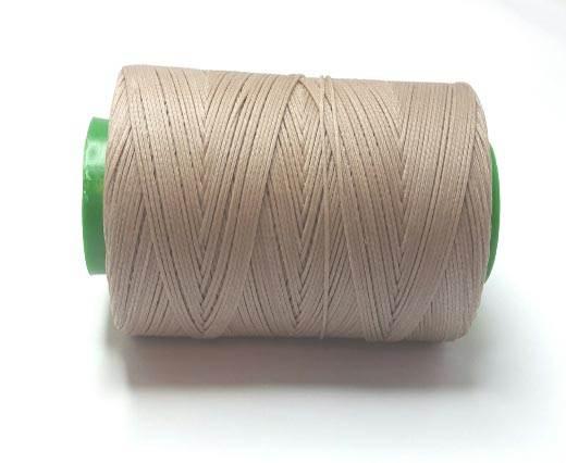 0.8mm-Nylon-Waxed-Thread-Brown Light 9027