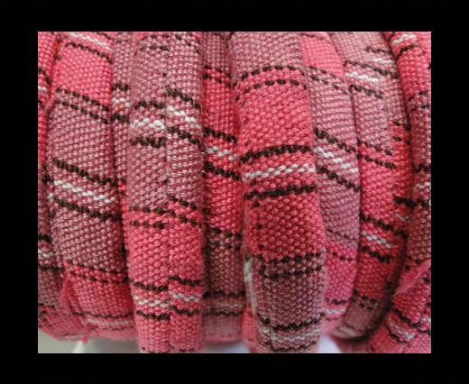 Bulgy Fabric Cord-10mm-pink
