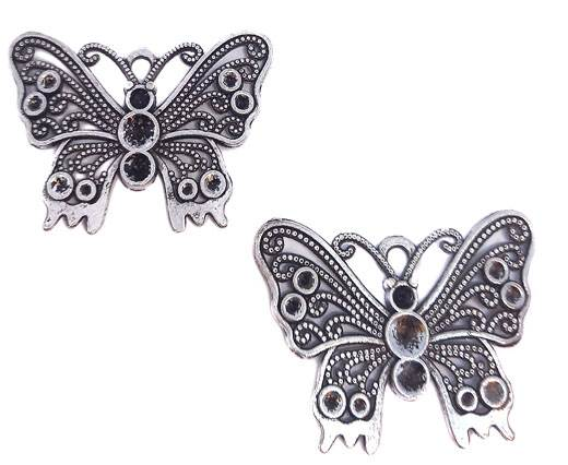 Zamak Silver Plated Bead CA-3010
