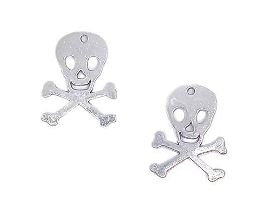 Zamak Silver Plated Beads CA-3021