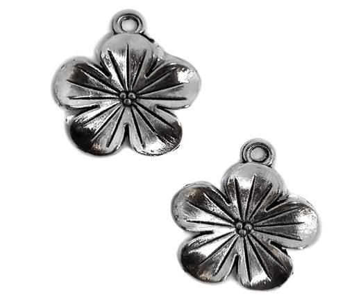 Zamak Silver Plated Bead CA-3026