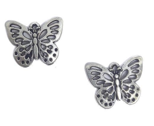 Zamak Silver Plated Beads CA-3033