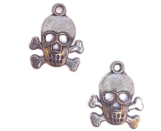 Zamak Silver Plated Beads CA-3095