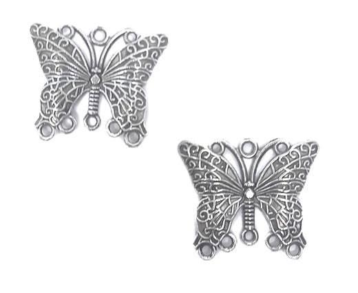 Zamak Silver Plated Beads CA-3104