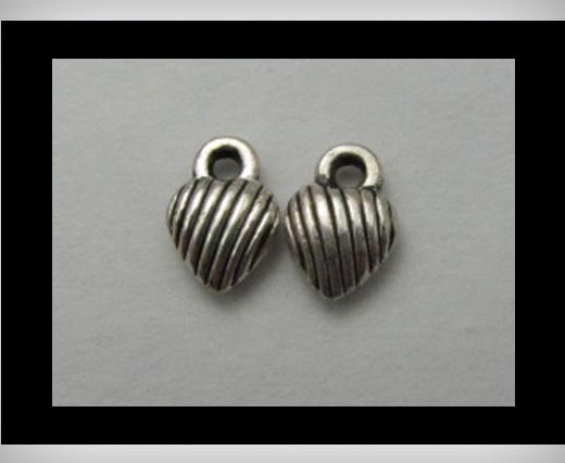 Zamak Silver Plated Bead CA-3116