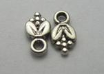 Zamak silver plated beads CA-3122