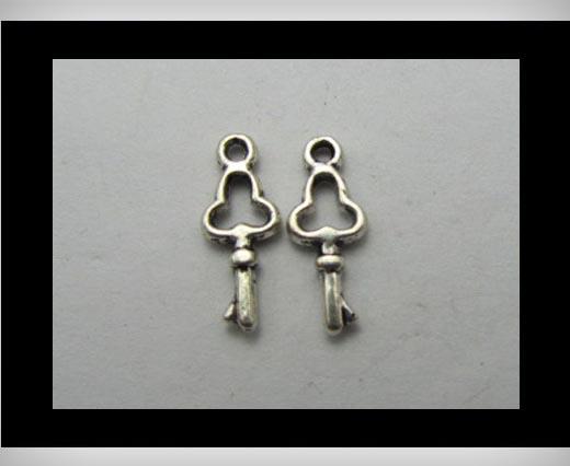 Zamak Silver Plated Bead CA-3134