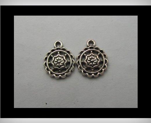 Zamak silver plated bead CA-3136
