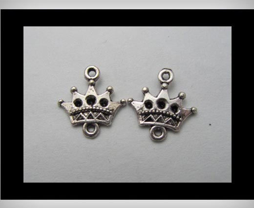 Buy Zamak Silver Plated Bead CA-3140 at wholesale prices