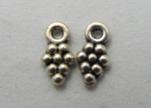 Zamak silver plated bead CA-3146