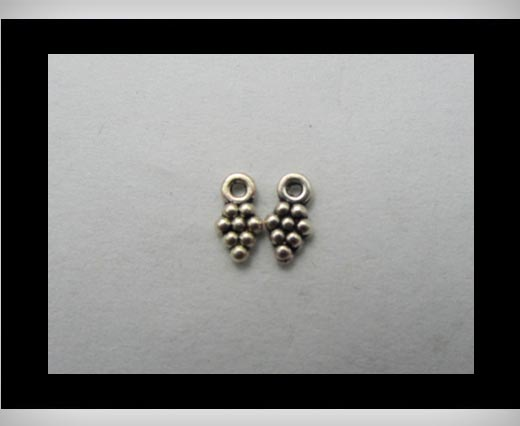 Buy Zamak silver plated bead CA-3146 at wholesale prices