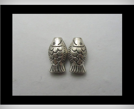 Buy Zamak Silver Plated Bead CA-3148 at wholesale prices