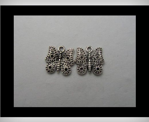 Zamak Silver Plated Bead CA-3149