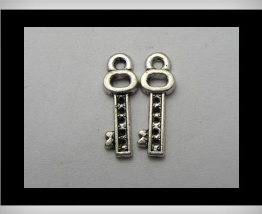 Zamak Silver Plated Bead CA-3151