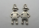 Zamak silver plated bead CA-3152