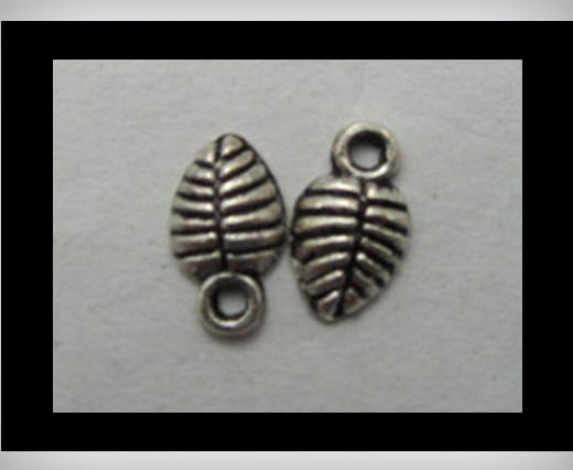 Buy Zamak silver plated bead CA-3161 at wholesale prices