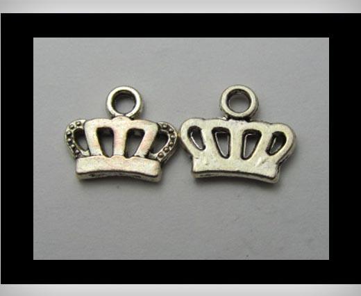 Zamak Silver Plated Bead CA-3166