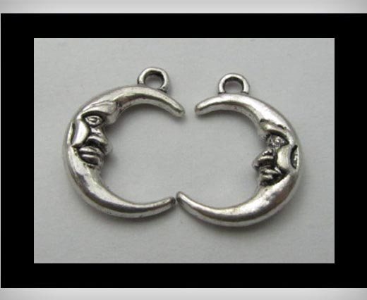 Zamak silver plated bead CA-3167
