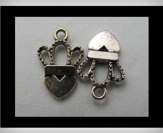 Zamak Silver Plated Bead CA-3171