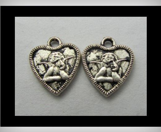 Zamak Silver Plated Bead CA-3175