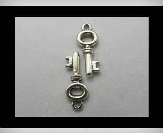 Zamak Silver Plated Bead CA-3176