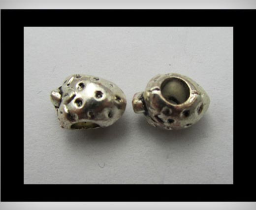 Zamak big hole bead CA-3184