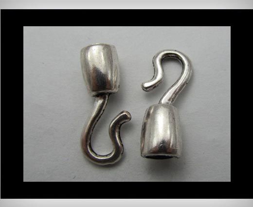 Zamak silver plated bead CA-3185