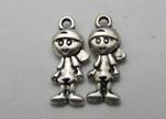 Zamak silver plated bead CA-3189