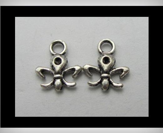 Zamak silver plated bead CA-3192